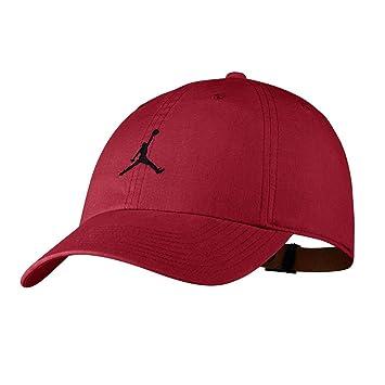 Nike Jordan H86 Jumpman Washed Gorra, Hombre, Rojo (Gym Red) / Negro, Talla Única