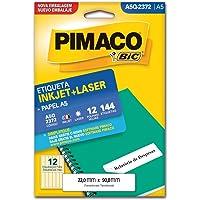 Etiqueta Ink-Jet/Laser A5 22x90, BIC, Pimaco, 874859, Branco, 144 Etiquetas
