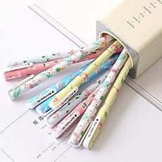 YeahiBaby Set de pluma de gel Unicornio Flamenco - 10Pcs 0.5 mm Fine Point Pen, 10 colores, lindos regalos de papelería para niñas