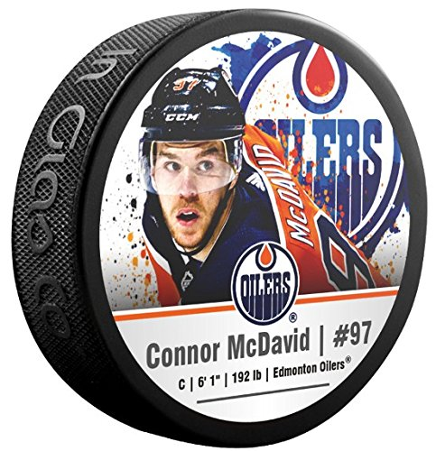 Sherwood Connor McDavid Edmonton Oilers Photo Souvenir Hockey Puck