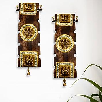 Buy ExclusiveLane Dhokra Warli Handpainted Wooden Decorative