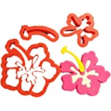 Hibiscus Flower Cookie Cutter Set (3 inch)