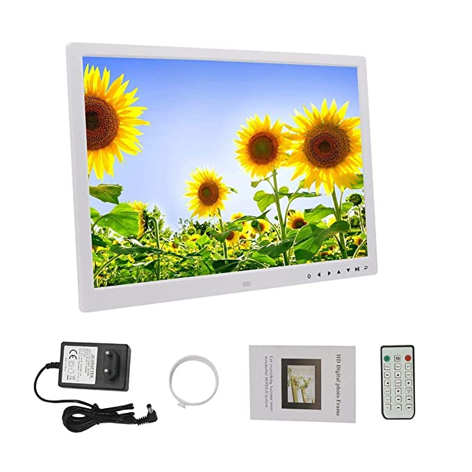 Dailyinshop HD Digital Photo Frame 17 Inches Front Touch Buttons Multi-Language LED Screen: Amazon.es: Hogar
