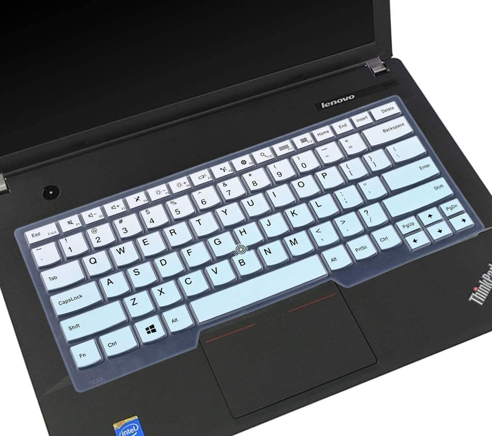 """Keyboard Skin for Lenovo Thinkpad X1 Carbon 14"""" 7th/6th/5th 2019 2018 2017 /ThinkPad X1 Yoga 14"""" 2018 2017/Thinkpad A475 L460 L470 T460 T460p T460s T470 T470p T470s T480 T480S 14"""" Cover, Gradual Mint"""