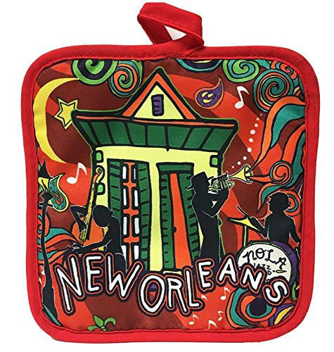 New Orleans Swirl & Shotgun House Pot Holder by Cajun Creations