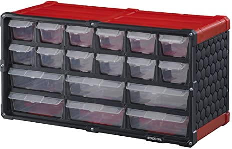 Amazon.com: SCR-18 18 Drawer Storage Cabinet, Red: Home Improvement