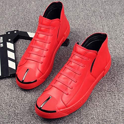 Shukun in Herren Stiefel Winter-Jugend-Männer High-Top-Schuhe Set Fuß in Shukun der Freizeitschuhe Martin Stiefel Herrenschuhe 104fb1