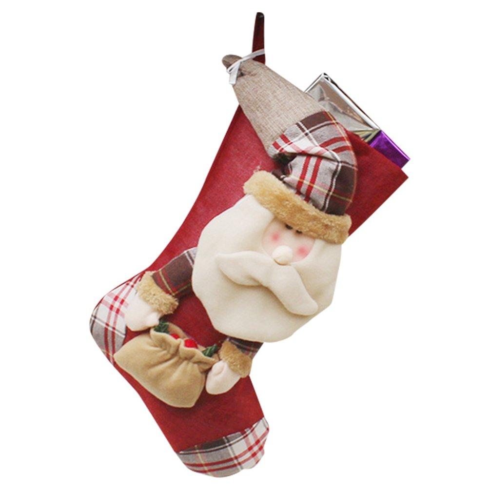 YiLianDa Mode Borsa Del Regalo Di Natale Babbo Natale Pupazzo Di Neve Decorazione Di Natale Ornamento Decori Del Calzino