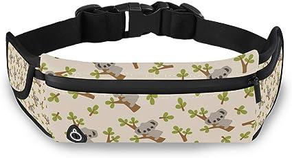 Cute Koala Sport Waist Packs Fanny Pack Adjustable For Hike