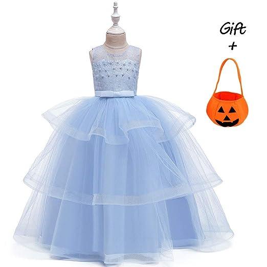 BO LU Disfraz De Princesa para Niñas Vestido De Rapunzel ...