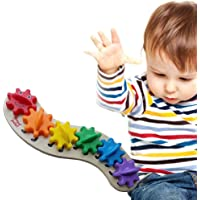 Rainbow Caterpillar Gear Toy with 6 Interchangeable Gears