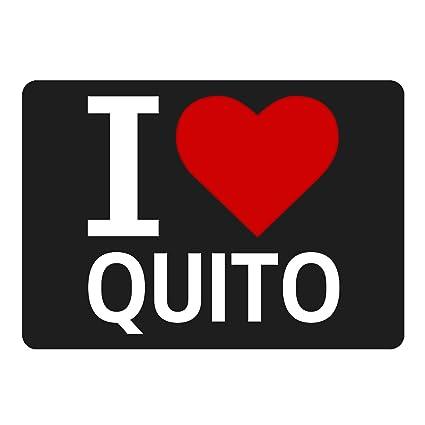 Alfombrilla Classic I Love Quito negro