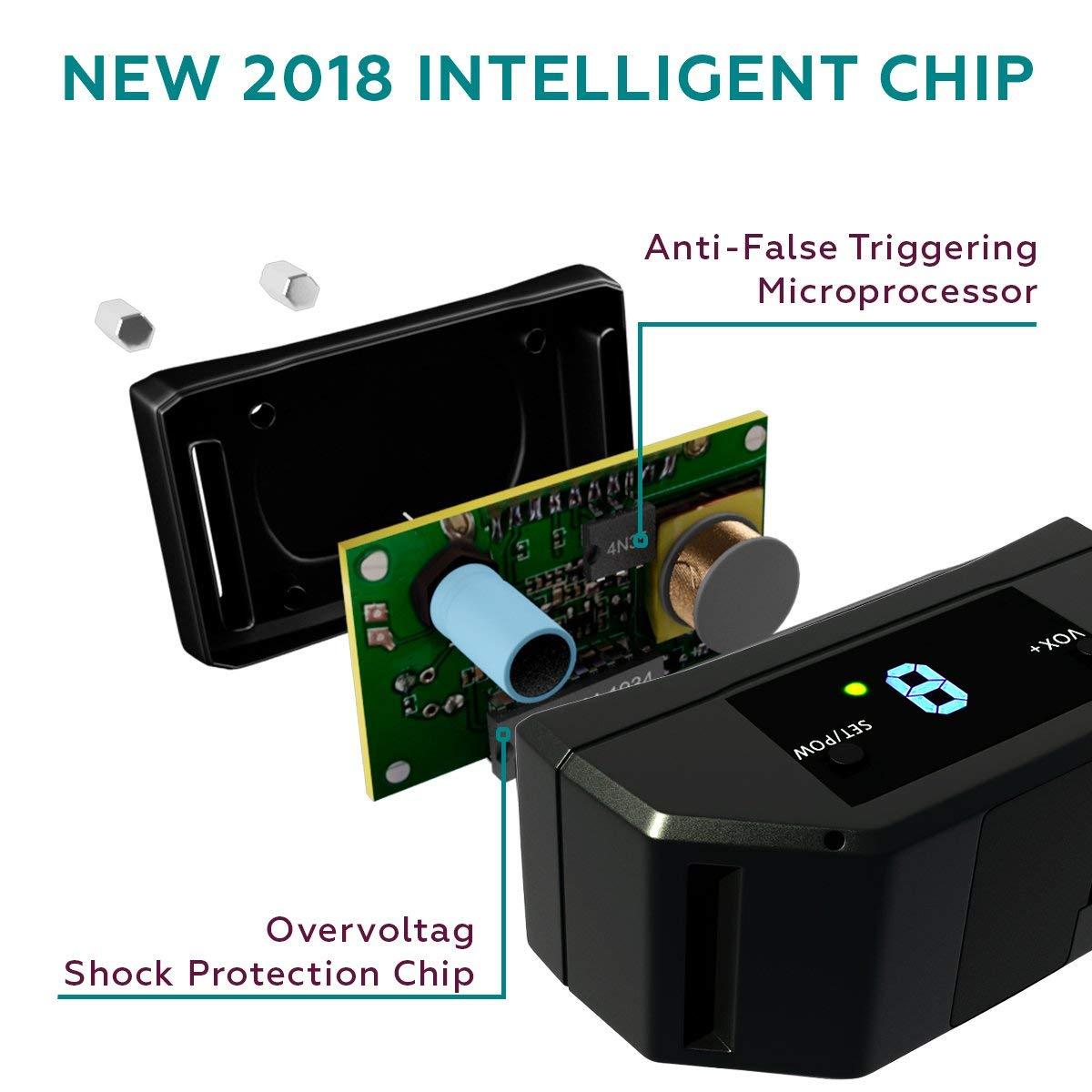 Newest 2018 Upgraded No Bark Device Best Dog Anti-Barking Collar TBI Pro Beep//Shock Mode Bark Collar w//Upgraded Smart Chip