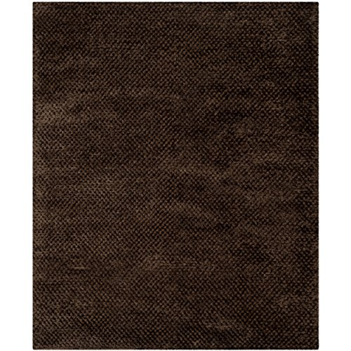 Safavieh Saint Tropez Collection STS641C Hand Woven Chocolate Polyester Area Rug (8' x 10')
