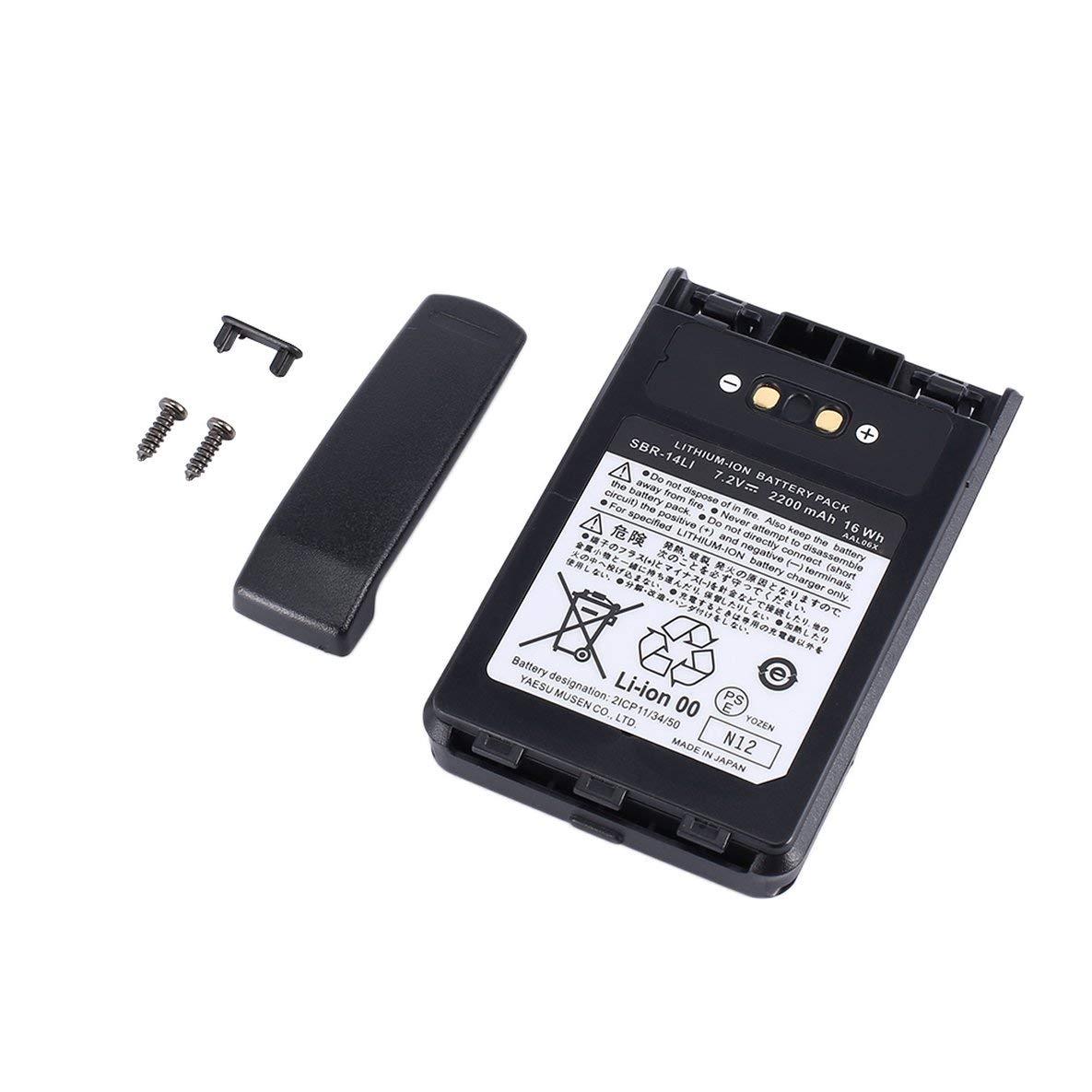 Noradtjcca Batteria Ricaricabile agli ioni di Litio da 2200 mAh per Radio Yaesu VX-8R VX-8DR VX-8GR FT-1DR FT1XD FT-2DR FNB-102LI FNB-101Li