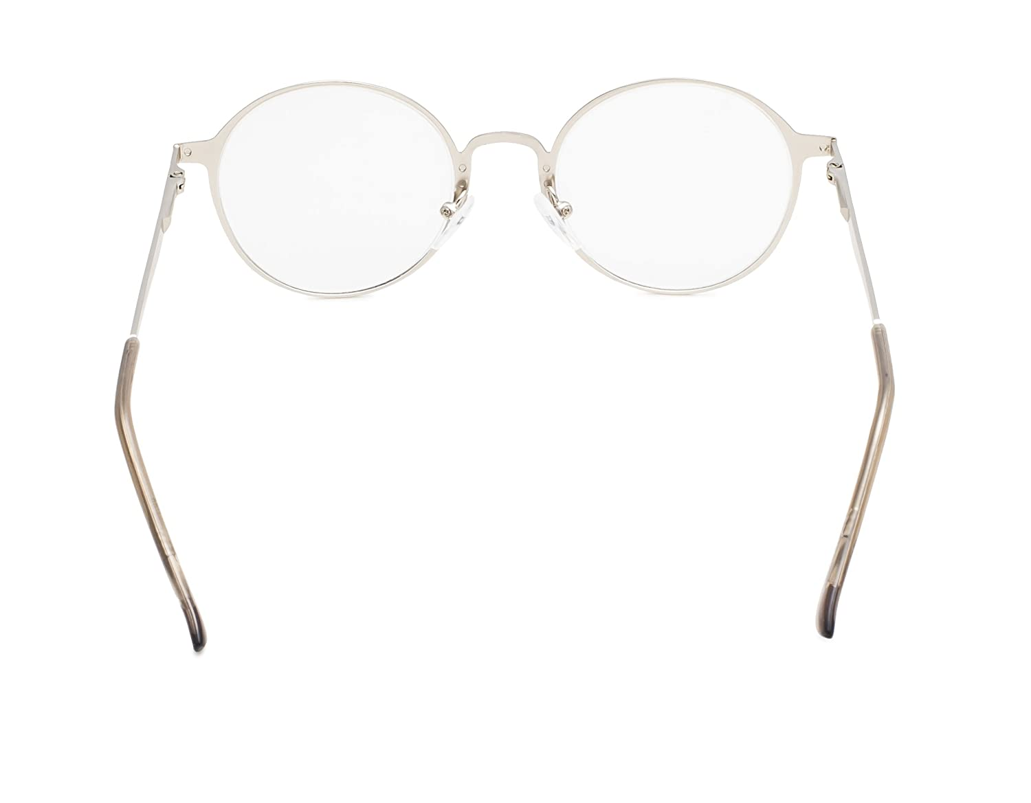 0.5 Eyekepper Readers Quality Spring Hings Retro Round Reading Glasses Gold