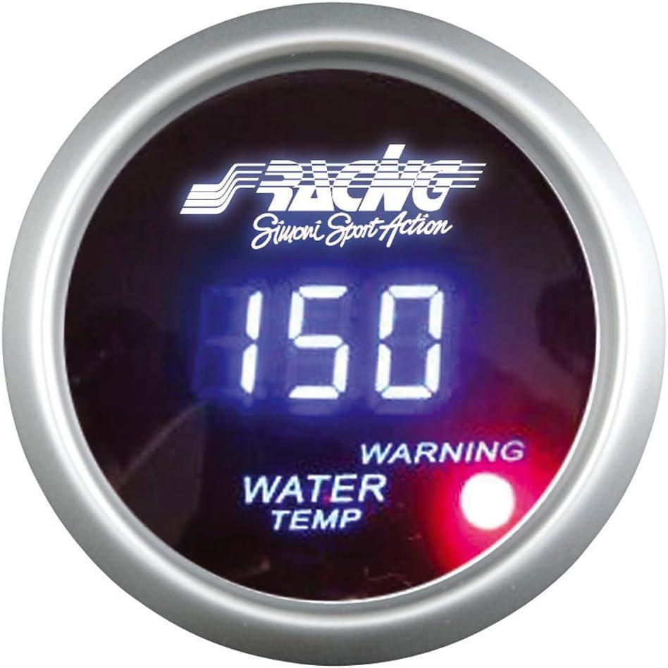 Black Face Simoni Racing WT//D Digital Water Temperature Gauge with Sensors
