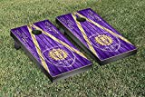Orlando City Lions MLS Soccer Regulation Cornhole Game Set Triangle Weathered Version
