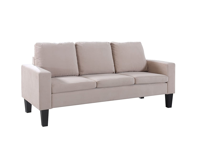 Enjoyable Amazon Com Nhi Express 72013 63Be Sarah Microfiber Sofa Cjindustries Chair Design For Home Cjindustriesco