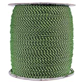 PARACORD PLANET 1.8 MM Dyneema Speed Lace - 10 Feet - Black, Lime Green, White Color - Unbreakable and Lightweight Fiber