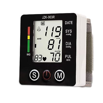 YHMMOO Tensiómetro de Muñeca Cómodas y Precisas con Detección de Pulso Arrítmico 2 x 99 Memoria