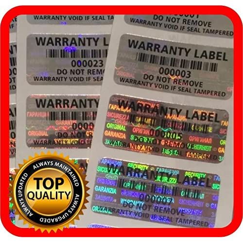 Cheap 250 pcs Warranty seals, Security hologram stickers, void tamper evident labels 1.25 x .59 Inch for cheap