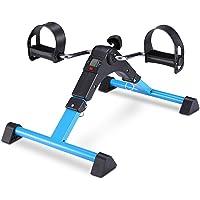 FITODO Pedal Trainer Pedale della Bici Mini Bike Esercizio Pedale Exercycle con Monitor LCD per Il Recupero di Braccia e Gambe,con Rilievo Antisdrucciolevole