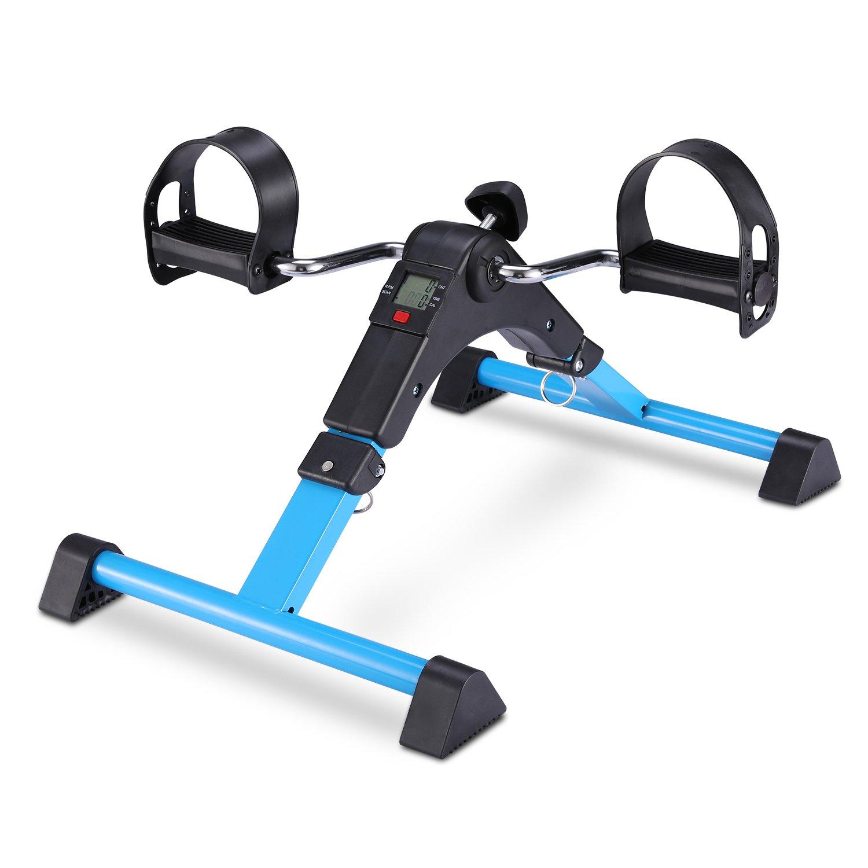 EXEFIT Mini Fahrrad Pedaltrainer für Arm- und Beintrainer Heimtrainer mit LCD-Monitor Faltbare GOTODO