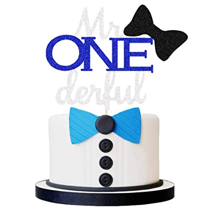 Swell Mr Onederful Cake Topper Boy First Birthday Party Cake Decor Funny Birthday Cards Online Aeocydamsfinfo