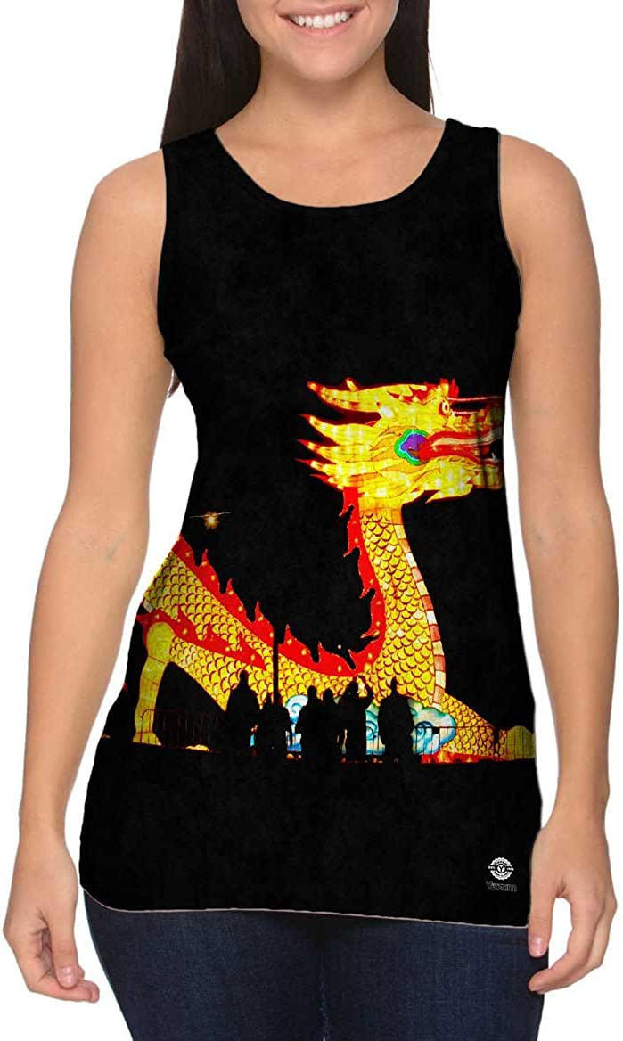 Yizzam China Festival of Lights Dragon Womens Tank Top Tshirt