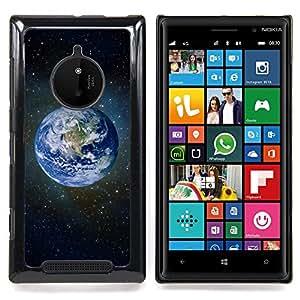 Eason Shop / Premium SLIM PC / Aliminium Casa Carcasa Funda Case Bandera Cover - Planeta Tierra Azul Espacio Estrellas Universo Cosmos - For Nokia Lumia 830