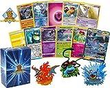 pokemon starter kit - 100 Pokemon Card Lot Featuring 1 GX and 1 Original Starter Pokemon Figure (Charizard, Blastoise, Venusaur)! Foils Rares Holos Energy! Includes Golden Groundhog Deck Box!