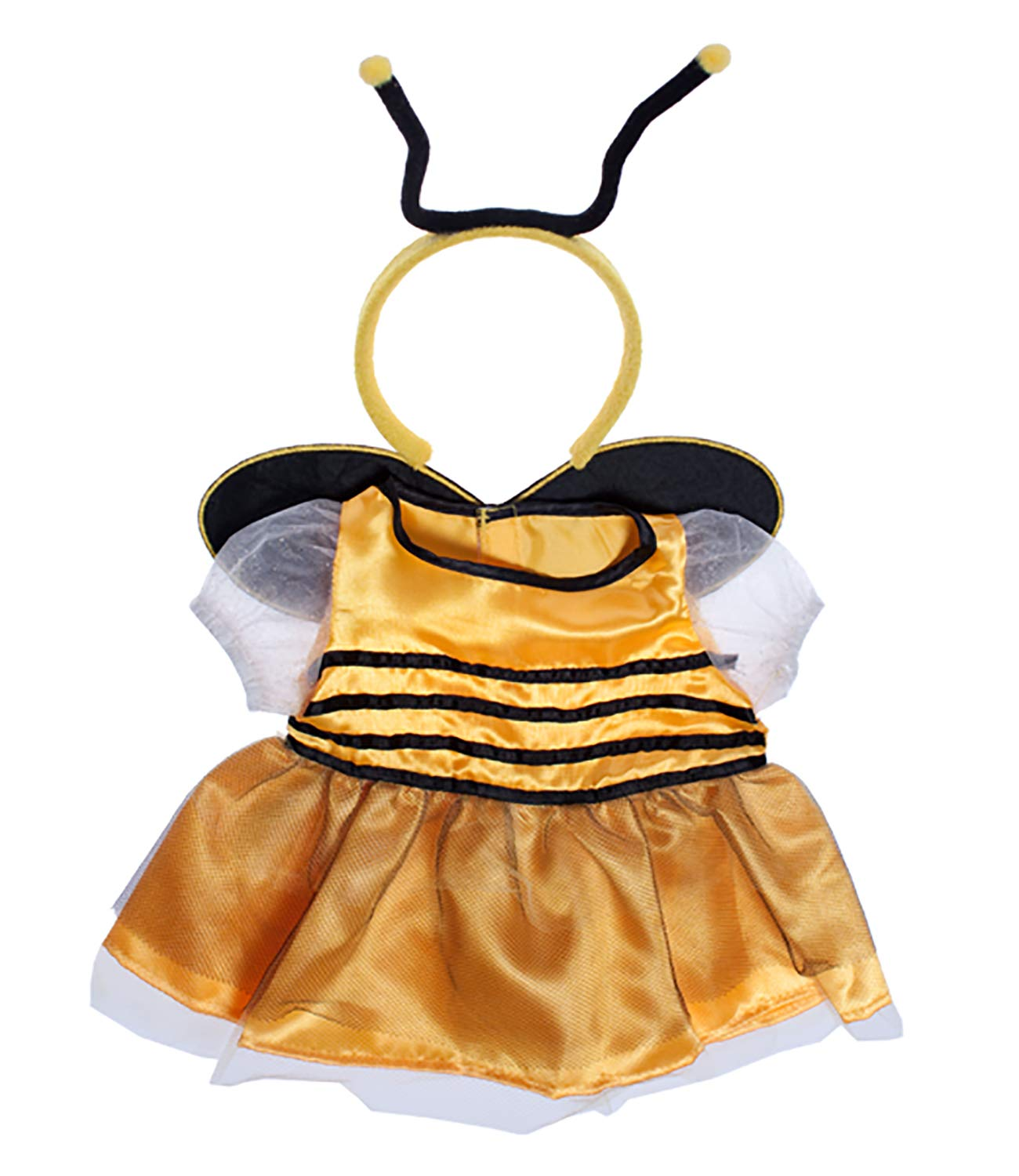 Bee Dress w/Antenna Teddy Bear Clothes Outfit Fit 14 - 18 Build-a-bear, Vermont Teddy Bears, and Make Your Own Stuffed Animals