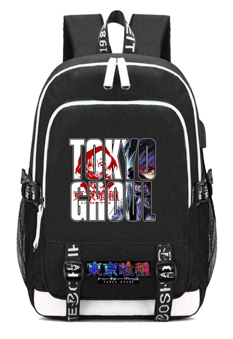 Tokyo Ghoul  14 Cosstars Tokyo Ghoul Anime Rucksack Schoolbag Laptop Backpack with USB Charging Port and Headphone Jack  5