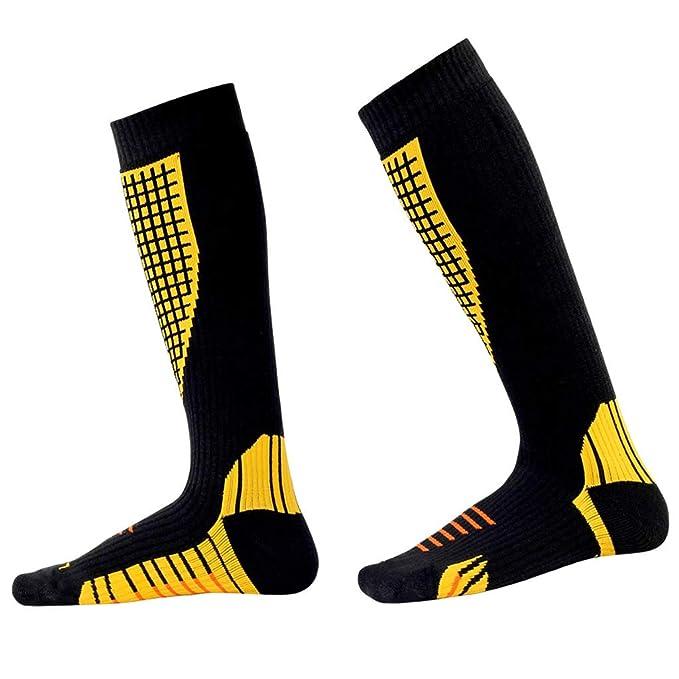 Zilee Calcetines Hombre Compresion Medias Mujer Termicos Largos Calcetines para Invierno Deportivos Esquí Ciclismo Trekking Running
