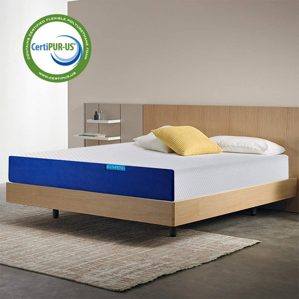 Cooling Gel Memory Foam Mattress 10 Inch Relieve Stress Kunpeng King Mattress Bed Mattress In A Box Medium Firm Certipur Us Bedroom Furniture Mattresses Box Springs