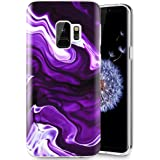 Caka Galaxy S9 Case, Galaxy S9 Marble Case Slim Anti-Scratch Shock-Proof Luxury Fashion Silicone Soft Rubber TPU Protective Case for Samsung Galaxy S9 - (Purple)