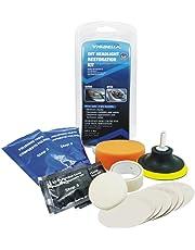Zantec Accesorios de Coche, Sistema de kit de restauración de lente de faros del coche Kit de herramienta de protección de pulido de restaurador profesional