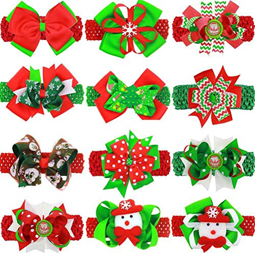 Girls hair ornaments Christmas bow tie with Europe and the United States baby hairpin with dual use by Jlong