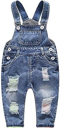 Odziezet Bebe Pantalones De Peto Largo Mono Vaquera Overalls Roto Jeans Pants Para Nino Nina Primavera Otono Invierno 3 Meses 3 Anos Amazon Es Ropa Y Accesorios