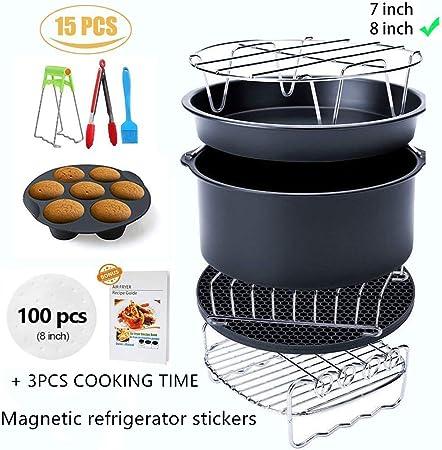 Ptsaying Air Fryer Accessories XL 15 sets, For Phillips power air fryers dash oven deep Fryer Accessories nuwave ninja Gowise Air Fryer Accessories ...
