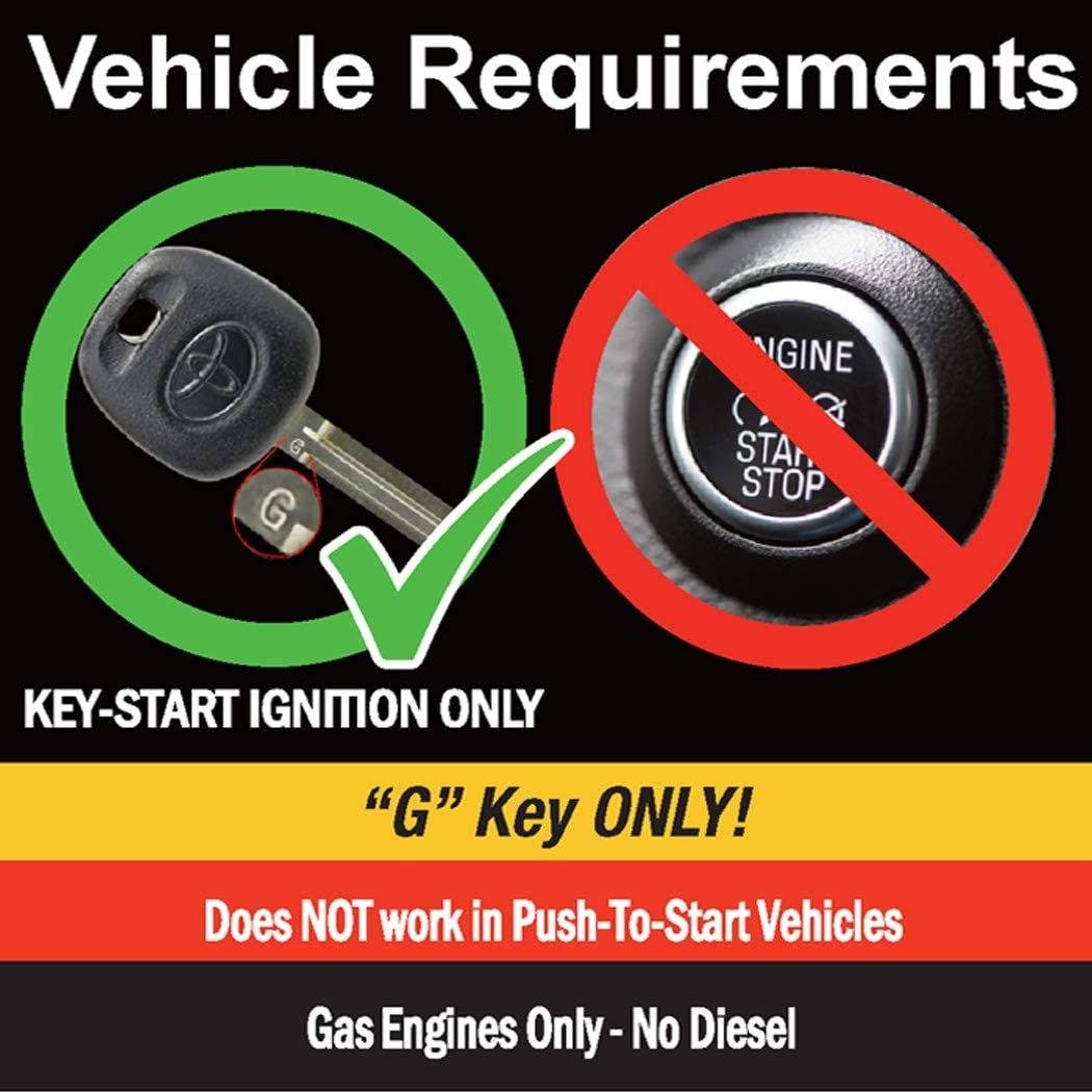MPC Remote Starter for 2010-2019 Toyota 4Runner |Gas| |G-Key| |Key to Start| Plugin T-Harness Factory Key Fob Activated Custom Firmware Preloaded 3X Lock to Start