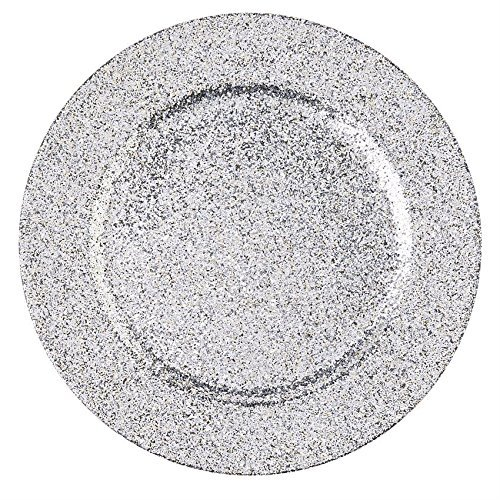 Silver Glitter Plate Chargers - Set of 4 Mud Pie