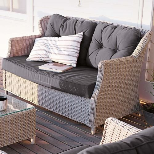 Kasandria® Outdoor-Sofa Altweiß