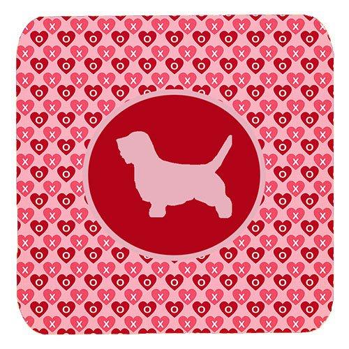 - Caroline's Treasures SDK1087-A-FC Petit Basset Griffon Vendeen Valentine Hearts Foam Coasters (Set of 4), 3.5