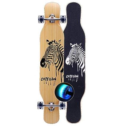HYE-SPORT Bamboo Pro Dancing Longboards Skateboard 46 Pulgadas x 9 ...