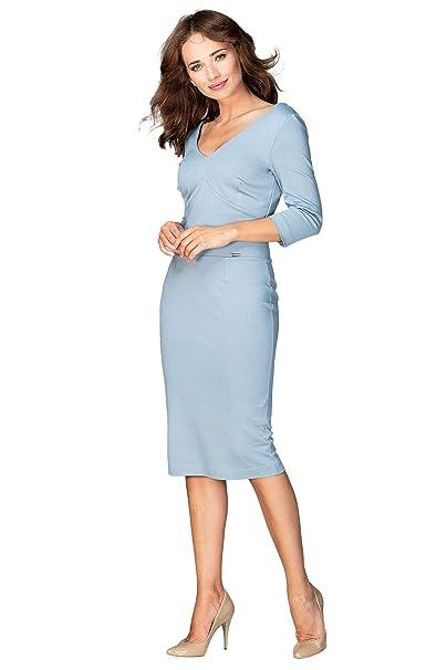 Offizielle Website echte Schuhe Qualität und Quantität zugesichert Lenitif Interessantes, Knielanges Kleid mit Ärmeln