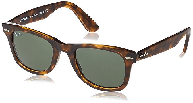Ray-Ban WAYFARER EASE RB4340 - Gafas de Sol Unisex con lentes verdes, Color
