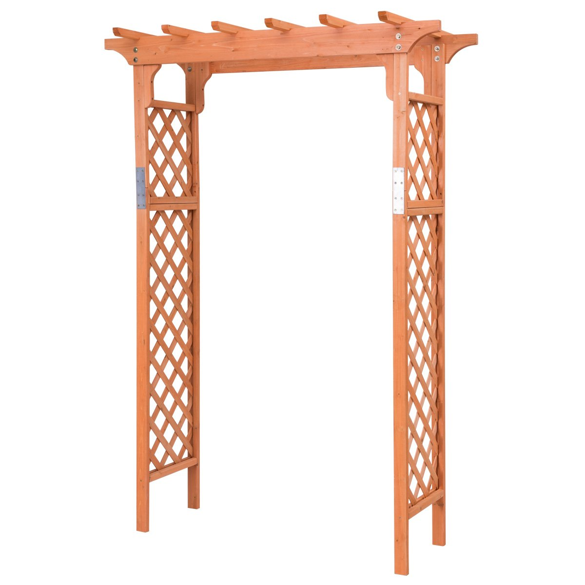 Giantex Garden Arbor Fir Wood Over 7ft High Outdoor Patio Pergola Trellis