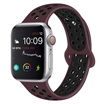 VODKER para Apple Watch Correa, 38mm 40mm 42mm 44mm Silicona Suave Reemplazo Sport Banda para